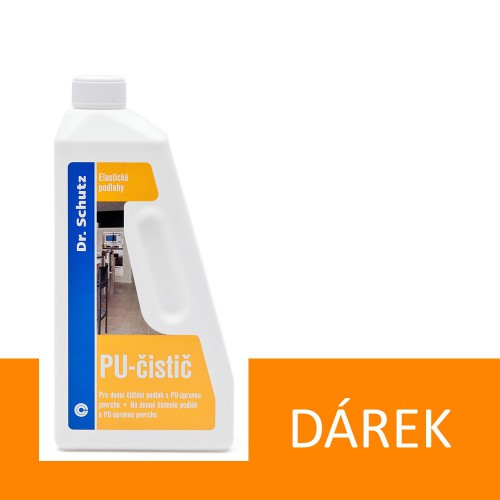 Ke každé objednávce přípravek na údržbu Dr. Schutz PU čistič 750 ml