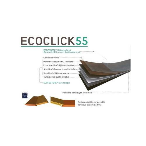 ECOCLICK55 - řez podlahou