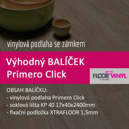 Balíček - Primero Click - lišta+podložka ZDARMA