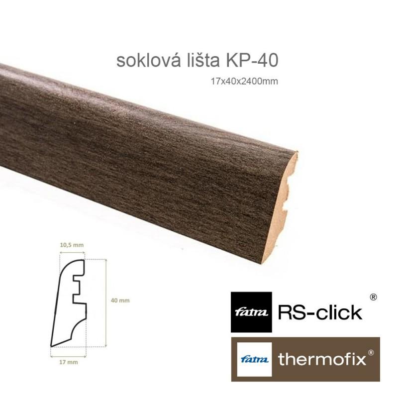 MDF soklová lišta KP40 k Thermofix a RS-Click