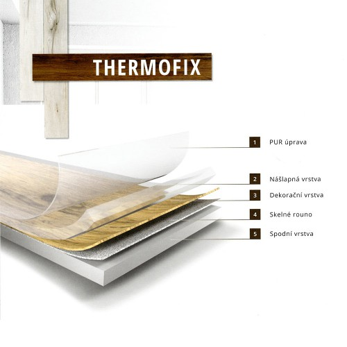 Fatra Thermofix Wood 2mm Ořech vlašský 12118-1