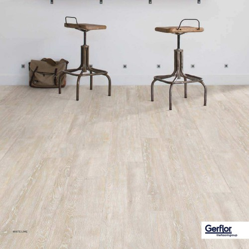 Gerflor CREATION 55 CLIC - 0584 White Lime 1239x214mm