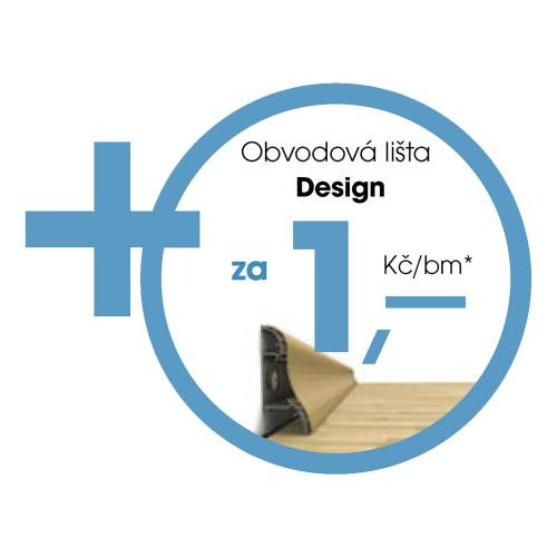 Soklová lišta Design 20x58x2400mm ke každému 1m2 podlahy, dostanete 1bm lišty za 1,-Kč