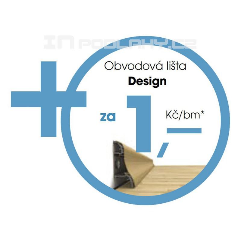 Originální soklová lišta Fatraclick ZDARMA ke každému 1m2 podlahy - dostanete 1bm lišty