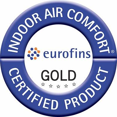 Podlaha Expona Domestic má certifikát Indoor Air Comfort Gold, který získávají jen opravdu zdravé produkty s nejnižším obsahem emisí