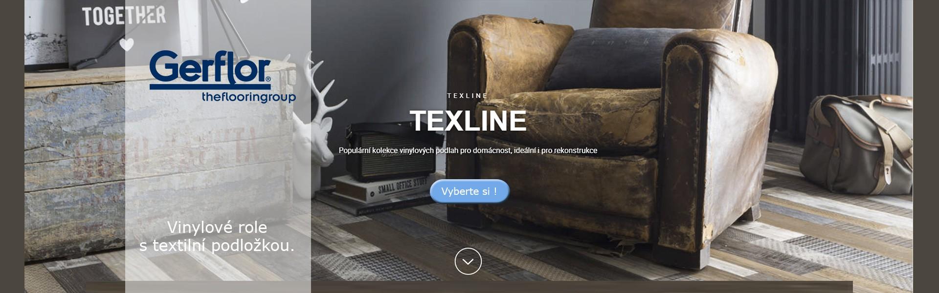 Gerflor TEXLINE - Vinylová podlaha v rolích s unikátní textilní podložkou.